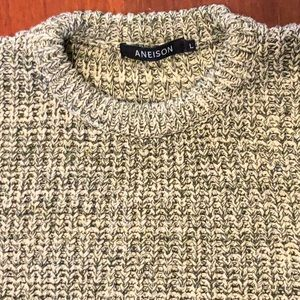 90s Chunky cotton marled knit oversized sweater